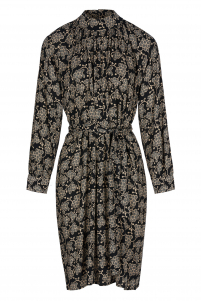 By-Bar | duke grape dress | Zwart