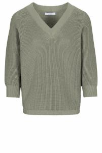 By-Bar | june pullover | Groen