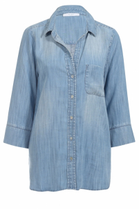 By-Bar | zoe denim blouse | Blauw