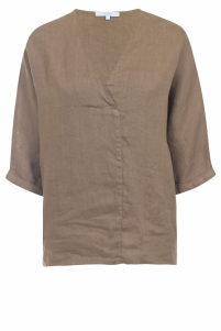By-Bar | liva linen blouse | Beige
