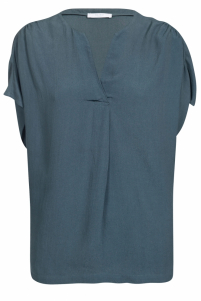By-Bar | moon crepe blouse | Blauw