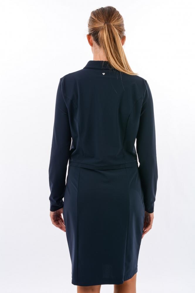Helena Hart 5981 jurk Blauw | Jeroen Beekman damesmode