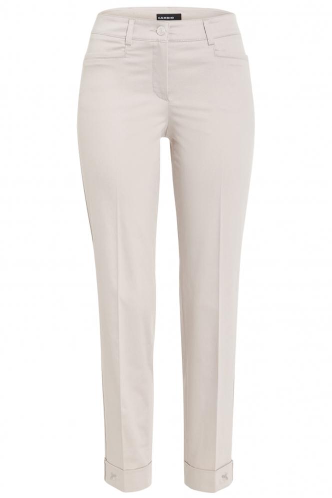 Cambio • blauwe jeans Parla Short met pareltjes in 2020